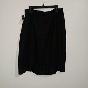 Jennifer Moore Skirts - Jennifer Moore 100% Black Linen Skirt Sz 16